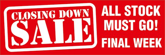 Closing Down Sale Banner