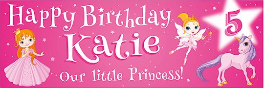 Fairytale Birthday banner